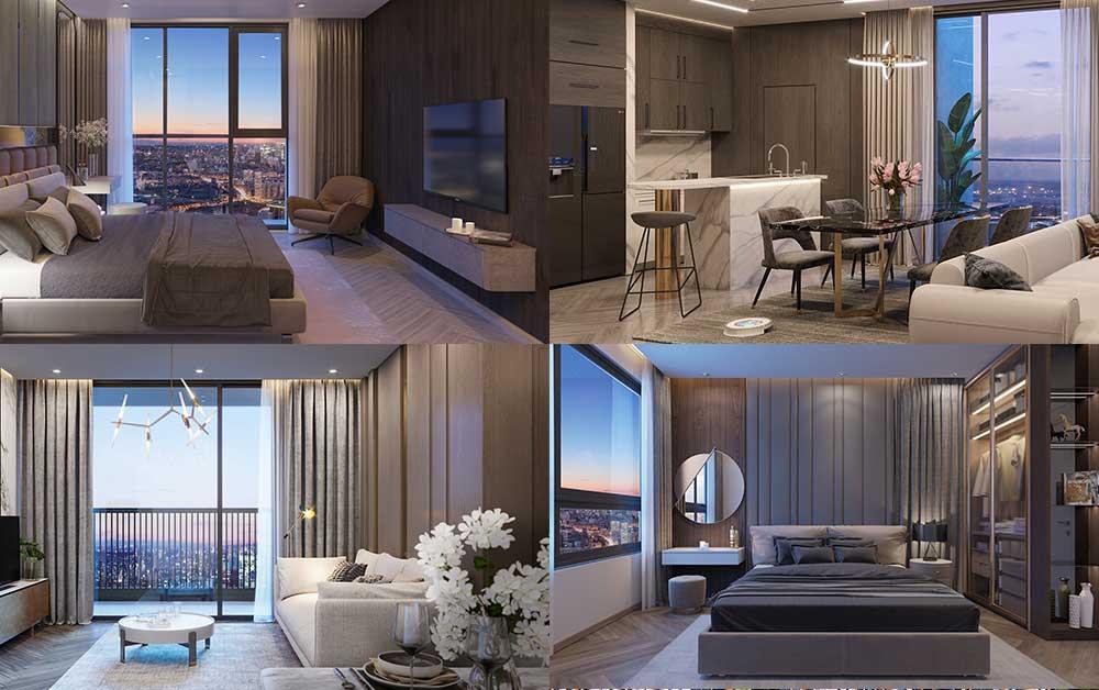 Thiết kế nội thất căn hộ Happy One Central
