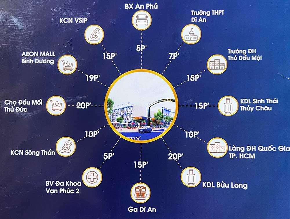 Tiện ích khu nhà phố thương mại Hoàng Nam 5